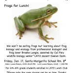 Frogs for Lunch