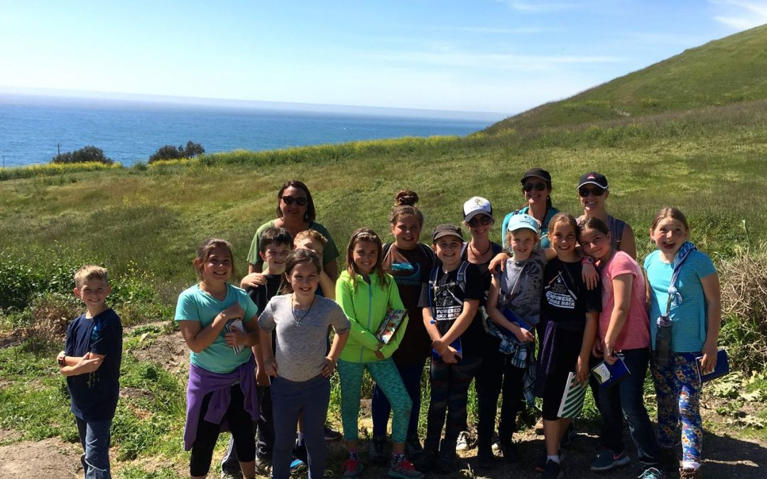 Ocean View School Oak Ambassadors-in-training get a first look at their Pismo Preserve nature trail