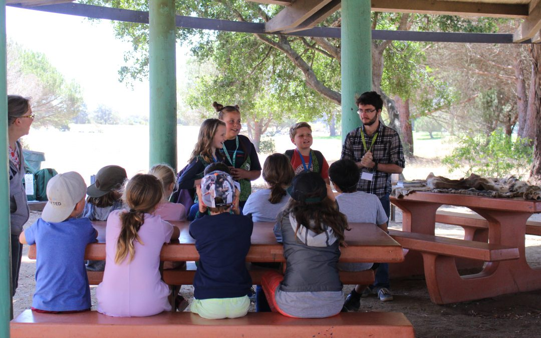 Kids laughing, learning and teaching at Jr. Ranger Camp
